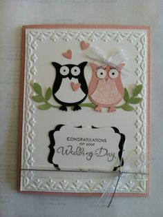 Stampin' Up Soft and Sweet Owl Wedding Card Kit | eBay