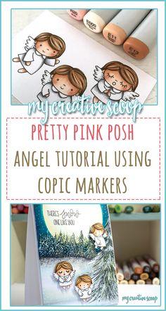 Pretty Pink Posh Angel Tutorial using Copic Markers