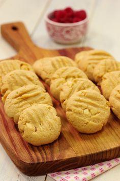 Cinco Quartos de Laranja: Biscoitos de manteiga de amendoim com chocolate branco