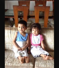 We stumbled upon an adorable picture of Aishwarya-Abhishek's daughter Aaradhya Bachchan along with her cousin Vihaan Rai. The two kids are reportedly of almost same age. Vihaan is Aishwarya's brother Aditya's son. (Image courtesy: Zoom TV's Twitter account)
