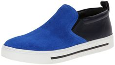 Marc by Marc Jacobs Women's Slip On Fashion Sneaker, Blue/Navy, 39 EU/9 M US