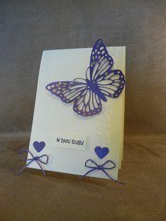 Kartka z okazji ślubu z delikatnym fioletowym motylkiem na pewno zachwyci Państwa Młodych! Zobaczcie inne nasze propozycje :) www.facebook.com/topcomicart