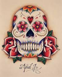 Sugar skull design idea for my Hello Kitty sugar skull tat