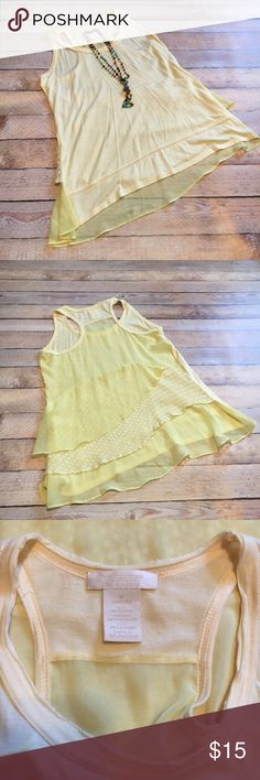 Miss Me MM Couture Flowy Tank ☀️MM Couture Flowy Tank ☀️Sheer racerback with layers of sheer fabric to hem ☀️Raw edges at neck and arms ☀️Worn once. Great condition. M&M Couture Tops Tank Tops