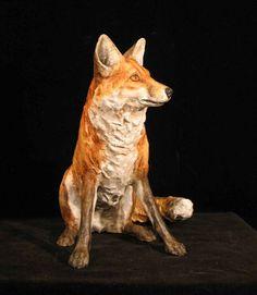 Red Fox, papier maché