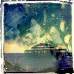 """Film Photography Submission By: Laura Su Bischoff Shot with a Polaroid and The Impossible Project Color film at Brighton Beach West Pier and """"doubled"""" with flower pedals. Emulsion lift combined with TIP transparency technique on watercolour paper. Medium Format Photography, Alternative Photography, Close Up Lens, Experimental Photography, Shoot Film, Thing 1, Lomography, Film Photography, Brighton"""