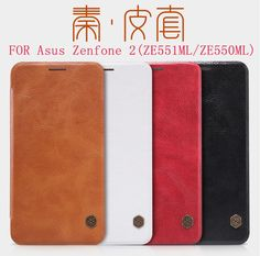 Nillkin QIN Series leather Case for Asus Zenfone 2 5.5 Inch(ZE551ML/ZE550ML) luxury brand protective cover with Retail Package
