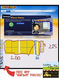 """7 Ways to Make Place Value Work for You!-- #5 Apps- free app """"Number Pieces"""""""