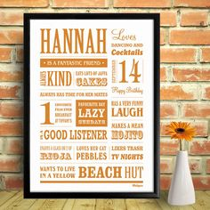 personalised name memory word art print by wallspice | notonthehighstreet.com