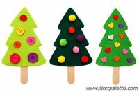 Craft Stick Christmas Tree Craft for Toddlers
