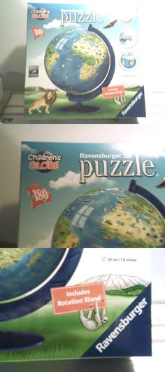 d30b5a02aaa 3D Puzzles 19186  Ravensburger 3D Puzzle The World Children S Globe On  Stand 180 Pieces