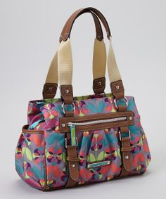 Floral Dots Triple Section Satchel
