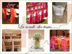 decoration chaise mariage organza intisse satin