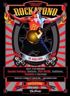 Afiche Rockatono VII por Capitan Porrito #rockatono #afiche #diseño #capitanPorrito #rock