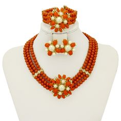Find More Jewelry Sets Information about 2016 Fashion pretty Nigerian African orange beads jewelry set 18k Gold Plated White Pearl bridal wedding jewelry sets,High Quality jewelry punk,China jewelry forging Suppliers, Cheap jewelry color from AE Jewelry&sport jerseys on Aliexpress.com