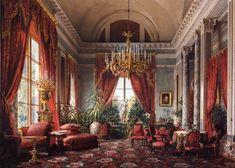 Crimson Parlour of the Alexander Palace by Luigi Premazzi. 1855.