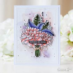 Sharing an · I finally finished coloring this gorgeous #STAMPtember bouquet from @simonsaysstamp for #thedailymarker30day.