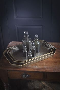 Set of Three Federal Trays by Vagabond Vintage