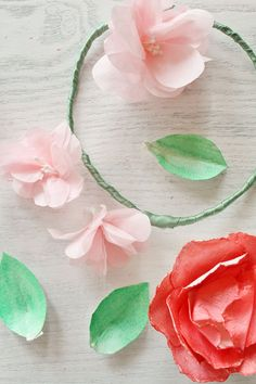Watercolor Floral Cake Crown DIY