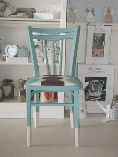 Love it!  Very funky, great upcycled chair!  I especially like the two toned legs!