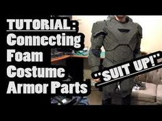 Connecting foam costume armor parts tutorial