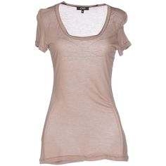 C'n'c' Costume National T-shirt ($68) ❤ liked on Polyvore featuring tops, t-shirts, light brown, rayon t shirts, brown tee, short sleeve tee, jersey tee and viscose tops