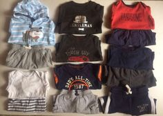 Baby Boy Carters 12 Month Winter 13 Piece Lot Long Sleeve Shirts Pants #Carters #Everyday