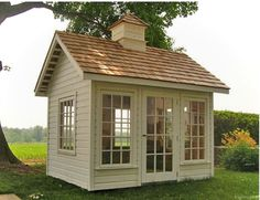 "the windows in this garden cottage studio ""The Conservatory"" Includes 6 awning type windows & a door.love the windows in this garden cottage studio ""The Conservatory"" Includes 6 awning type windows & a door. Garden Cottage, Home And Garden, Inside Garden, Modern Shed, Modern Lofts, Shed Building Plans, Backyard Sheds, Garden Sheds, Garden Shed Door Ideas"