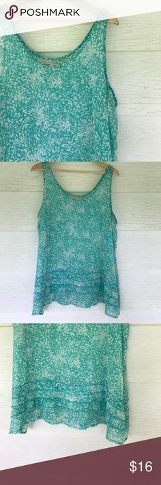Sheer tank Sheer green turquoise color tank. Old navy. Size XL Old Navy Tops