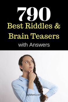 Riddles and brain teasers are an excellent workout for our brains. It helps us to think and reason. Scientists have been proven that riddles and brain. Brain Teasers With Answers, Riddles With Answers, Best Riddle, Memes, Meme