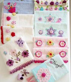 Crochet Towel, Crochet Fabric, Crochet Flower Patterns, Crochet Shawl, Crochet Doilies, Crochet Flowers, Crochet Kitchen, Crochet Squares, Chunky Yarn