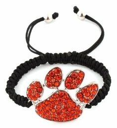 Orange Tiger Paw Adjustable Lace Style Bracelet Iced Out Poparazzi JOTW. $1.95. 100% Satisfaction Guaranteed!. Great Quality Jewelry!