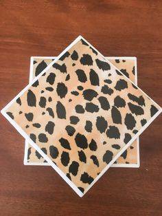Leopard coasters ceramic tile coasters tile by KCstylejewelry
