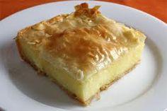 Galaktoboureko (Greek Custard Pie) - this is absolutely my FAVORITE Greek pastry . beats baklava hand down in my book! Greek Sweets, Greek Desserts, Greek Recipes, Pie Recipes, Just Desserts, Delicious Desserts, Dessert Recipes, Yummy Food, Creme Custard