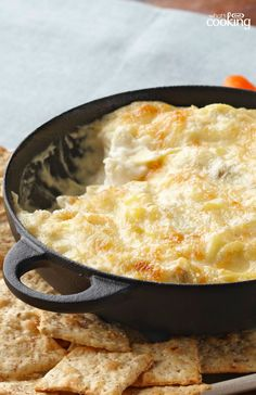 Hot Artichoke Dip #recipe #sponsored #kraftwhatscooking