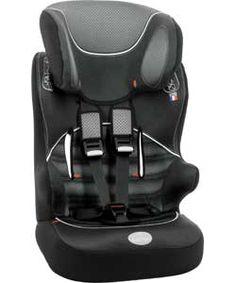 BabyStart Racer Group 1-2-3 Car Seat - Black and Grey.