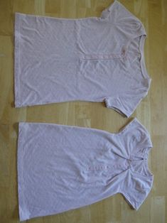 Transform adult t-shirt into child's nightgown