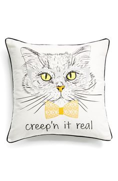 Adding some silly festive-fun to the abode with this 'creep'n it real' pillow that's totally perfect for Halloween.