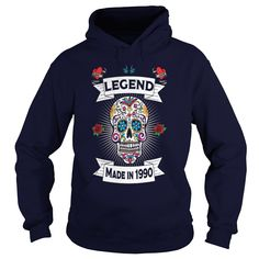 Sugar Skull Legends Are Born In 1990 - 27th Birthd - Mens Premium T-Shirt  #gift #ideas #Popular #Everything #Videos #Shop #Animals #pets #Architecture #Art #Cars #motorcycles #Celebrities #DIY #crafts #Design #Education #Entertainment #Food #drink #Gardening #Geek #Hair #beauty #Health #fitness #History #Holidays #events #Home decor #Humor #Illustrations #posters #Kids #parenting #Men #Outdoors #Photography #Products #Quotes #Science #nature #Sports #Tattoos #Technology #Travel #Weddings…