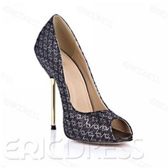 Amazing Lurex Knitted Peep Toe Stiletto Heel Pumps⊰⊹✿ ..  http://www.ericdress.com/list/cheap-stiletto-sandals-101991/17/