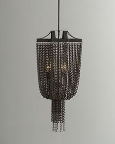 "Add drama instantly to a room with lighting. This is so dramatic and beautiful. (And anything named Marcello is fab:) )  ""Marcello"" Pendant at Horchow."
