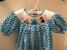 OMG, Smocked Frozen dresses...Olivia would love! Facebook.com/SmockStars to purchase