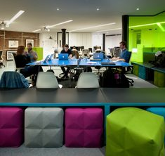 BuzziSpace buzzi blocks providing casual seating and acoustic treatment in thoughtworks-office, London