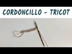 How to make i-cord - Knitting I Cord, Tie Clip, Crochet, Youtube, Accessories, Lanyards, Tejidos, Tricot, Ganchillo