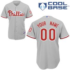 7f06745fe Phillies Personalized Authentic Grey Cool Base MLB Jersey (S-3XL) Milwaukee  Brewers