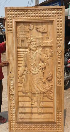 Wooden Main Door Design, Room Door Design, Wood Carving Designs, Buddha Art, Room Doors, Single Doors, Wooden Doors, Windows And Doors, Modern Design