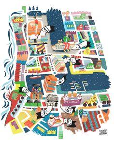 illustration: Antwerp Map - Travel - Belgium Tourism - Landmarks