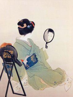 Uemura shoen pintura, ilustração e desenho painting, illustr Art And Illustration, Dark Art Illustrations, Japanese Drawings, Japanese Prints, Traditional Japanese Art, Art Asiatique, Different Art Styles, Bonsai Art, Japanese Painting