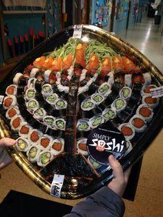 Hanukah. Sushi