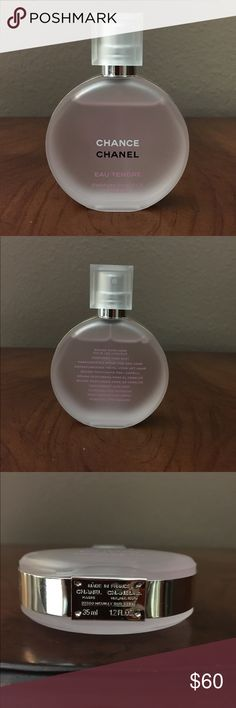 Chanel EAU TENDRE hair mist Chanel EAU TENDRE HAIR MIST. No box. Brand New. This is the hair mist. Smells like the perfume but only its for your hair. This is not a tester. Pretty frosty bottle. Size 1.2 fl oz CHANEL Accessories